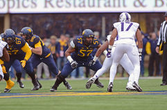 2014 futebol do NCAA - TCU-WVU Foto de Stock Royalty Free