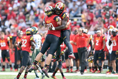 2015 futebol do NCAA - USF @ Maryland Imagem de Stock Royalty Free