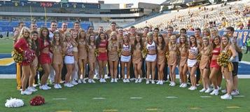 2014 futebol do NCAA - WVU-Oklahoma Fotos de Stock Royalty Free