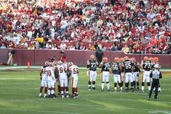 Futebol do NFL: Marrons dos Redskins v. Imagem de Stock