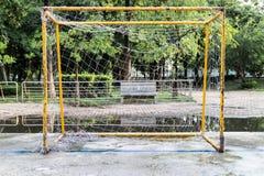 Futebol do objetivo Fotografia de Stock