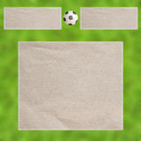Futebol do Plasticine nas folhas Fotos de Stock Royalty Free