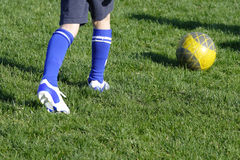 Futebol do treinamento Fotografia de Stock Royalty Free