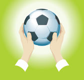Futebol do vetor imagem de stock