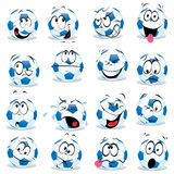 Futebol dos desenhos animados Imagem de Stock