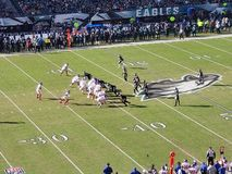 Futebol dos Philadelphia Eagles imagens de stock