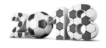 Futebol e 2018 Fotografia de Stock Royalty Free