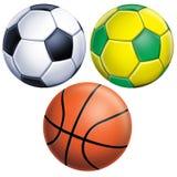 Futebol e basquetebol Fotografia de Stock