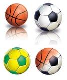 Futebol e basquetebol Foto de Stock