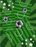 Futebol e estrelas Fotografia de Stock Royalty Free