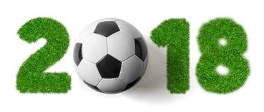 2018 - Futebol e grama Fotos de Stock