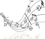 Futebol e música Ilustração Stock