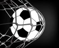 Futebol e rede fotografia de stock royalty free