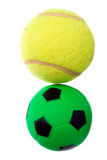 Futebol e tênis Imagens de Stock