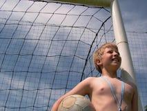 Futebol - esperando para jogar Fotografia de Stock