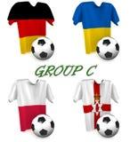 Futebol europeu 2016 do grupo C imagem de stock