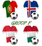 Futebol europeu 2016 do grupo F fotos de stock