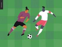 Futebol europeu, jogador de futebol Imagem de Stock