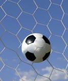 Futebol - futebol no objetivo Imagens de Stock Royalty Free