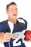 Futebol: Guardando bilhetes de dia do jogo Fotografia de Stock