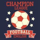 Futebol inglês ilustração stock