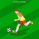 Futebol isométrico liso Fotos de Stock