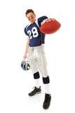 Futebol: Jogador de futebol resistente com bola Fotografia de Stock