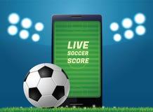 Futebol móvel Imagem de Stock Royalty Free