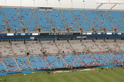 Futebol no Bank of America Stadium Foto de Stock Royalty Free