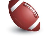Futebol no fundo isolado Fotografia de Stock