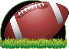 Futebol no fundo preto Fotografia de Stock