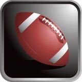 Futebol no fundo preto Imagem de Stock