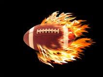 Futebol no incêndio Foto de Stock Royalty Free