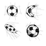 Futebol no objetivo Ilustração Royalty Free