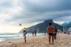 Futebol no Rio Foto de Stock