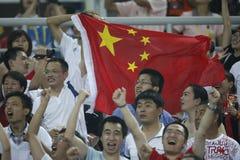 Futebol olímpico de Beijing - China v. Sweden Imagens de Stock Royalty Free
