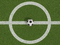 Futebol ou futebol no campo de futebol na vista superior Imagens de Stock Royalty Free