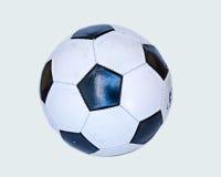 Futebol preto e branco velho Fotografia de Stock