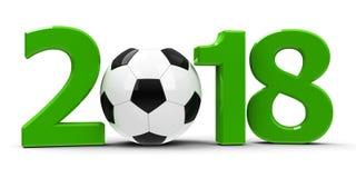 Futebol Rússia 2018 ilustração do vetor