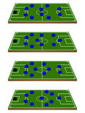 Futebol Team Formations Circles 3D Foto de Stock Royalty Free