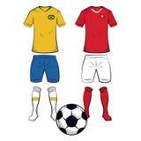 Futebol Team Uniforms ilustração stock