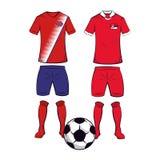 Futebol Team Uniforms ilustração do vetor