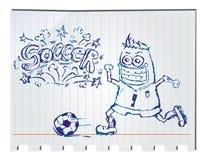 Futebol tirado mão Imagens de Stock Royalty Free