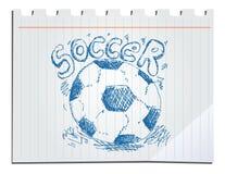 Futebol tirado mão Fotos de Stock