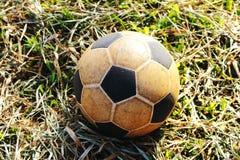 Futebol velho Imagens de Stock Royalty Free