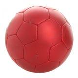 Futebol vermelho Fotografia de Stock