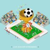 Futebol vivo que flui o conceito Fotografia de Stock