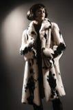 Futerkowego żakieta zimy ubrań moda Fotografia Royalty Free