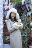 futerkowego kapeluszu kobieta obrazy royalty free