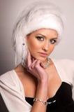 futerkowego kapeluszu kobieta obrazy stock